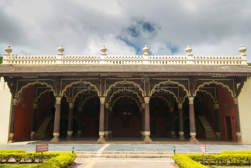 Slott för Tipu sultansommar, Bangalore royaltyfri foto