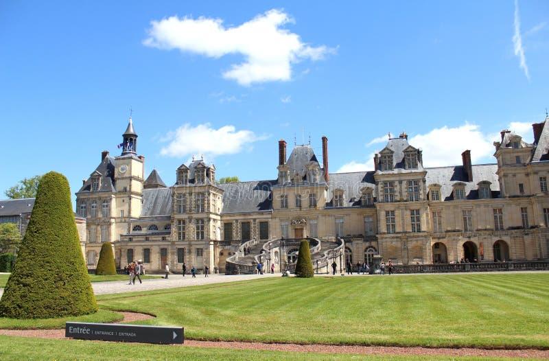 Slott Fontainebleau, Frankrike arkivbilder