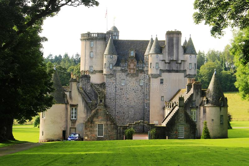 Slott Fraser, Skottland royaltyfri bild