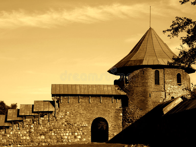 Slott Gammal Iii Arkivfoto