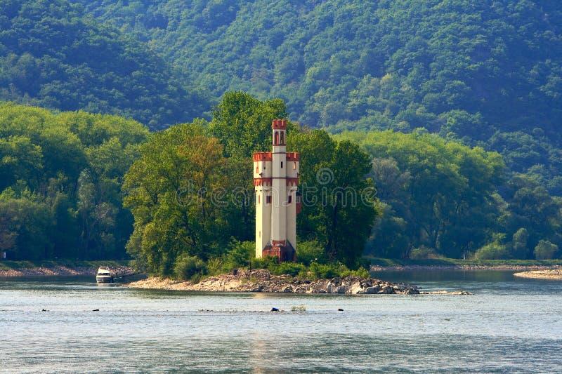 slott gammala rhine River Valley arkivfoto