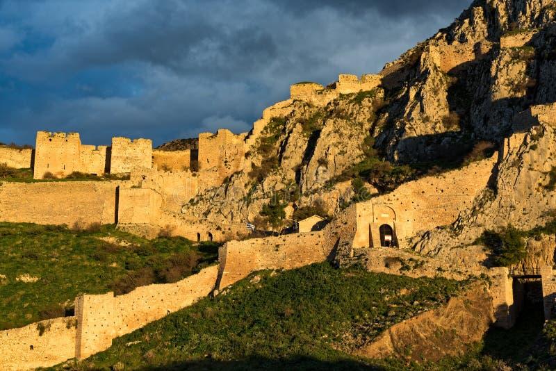 slott greece arkivbild