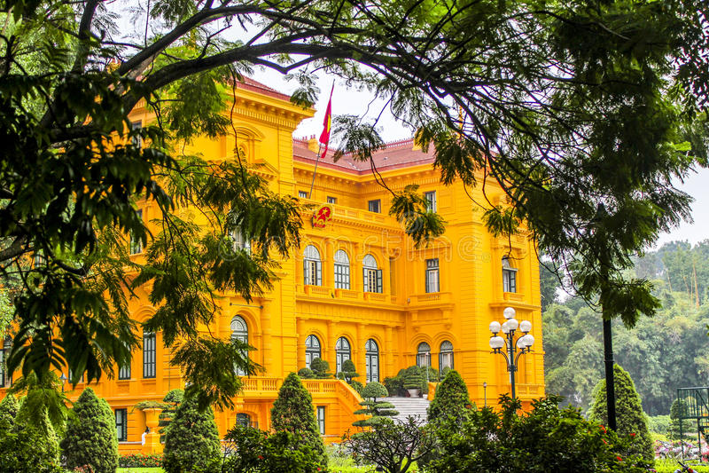 Slott Hanoi för president s arkivbild