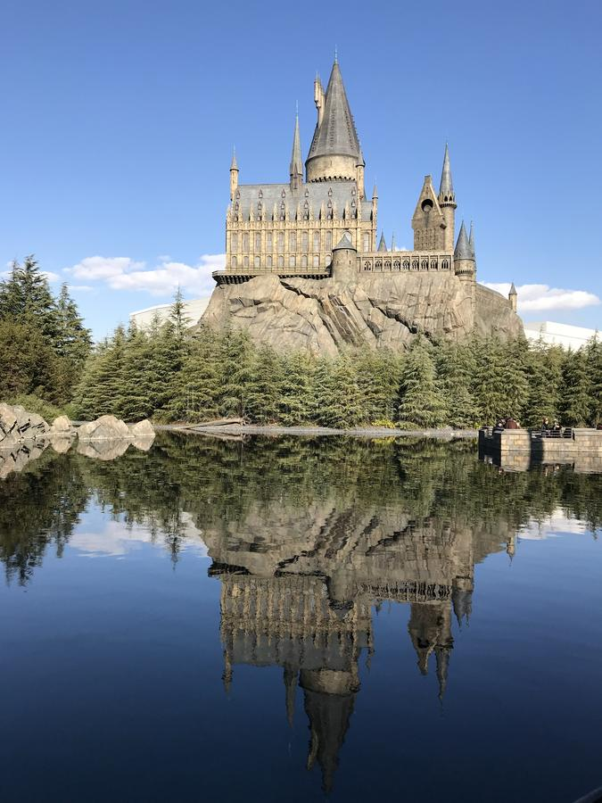 Slott: Harry Potter USJ royaltyfri foto