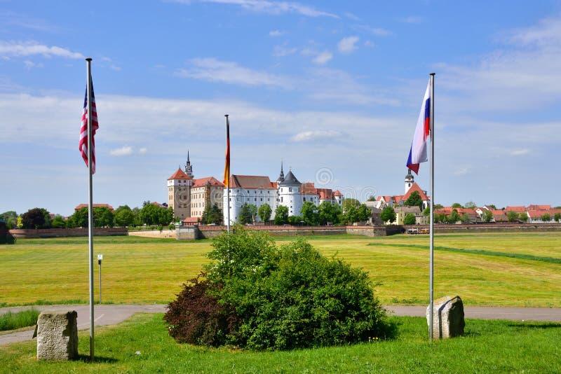 Slott Hartenfels i Torgau royaltyfri bild