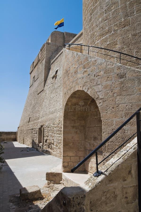 slott historiska italy puglia arkivbild