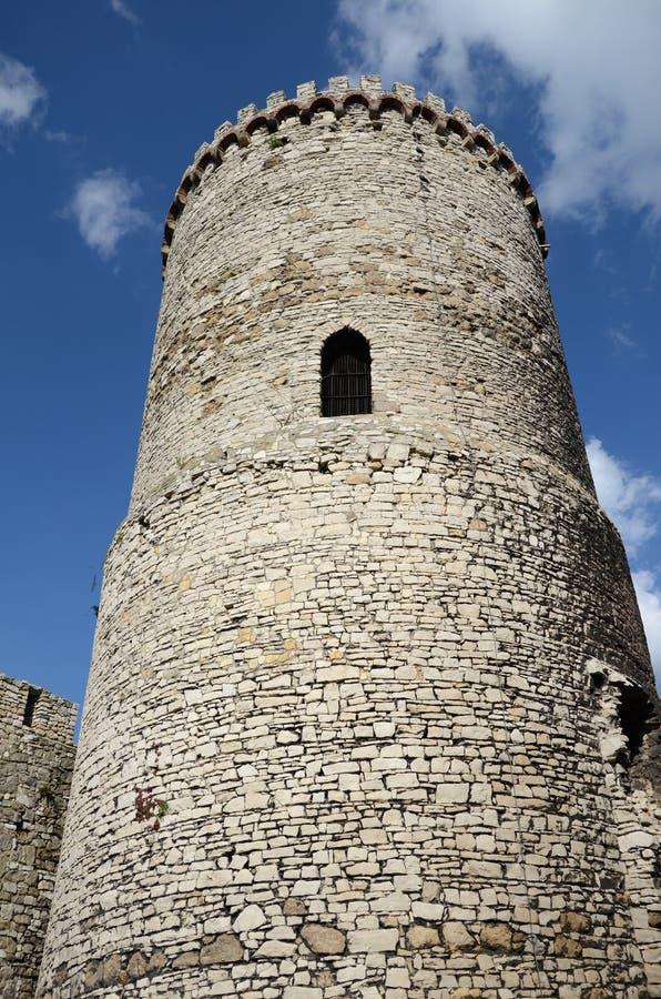 Slott i Bedzin, Polen fotografering för bildbyråer