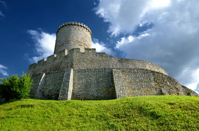 Slott i Bedzin, Polen arkivfoton