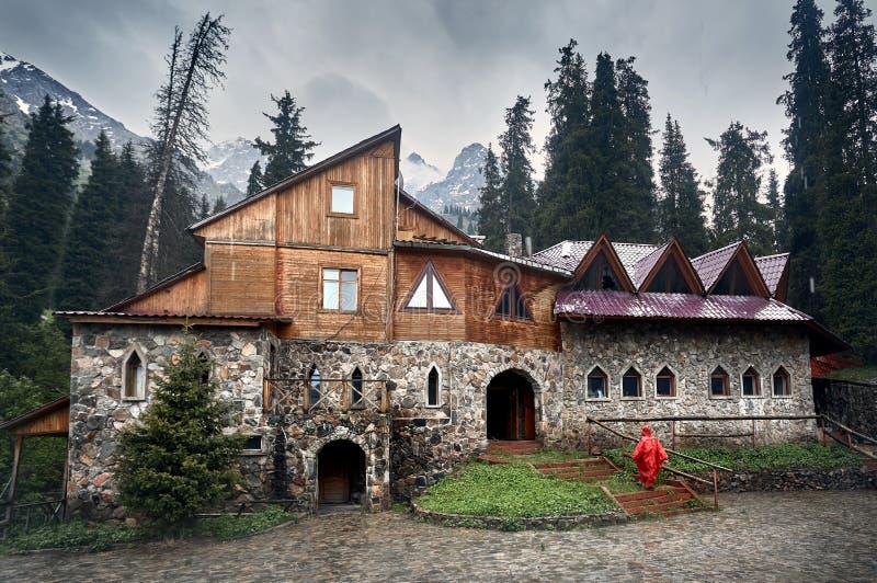 Slott i bergen arkivbilder