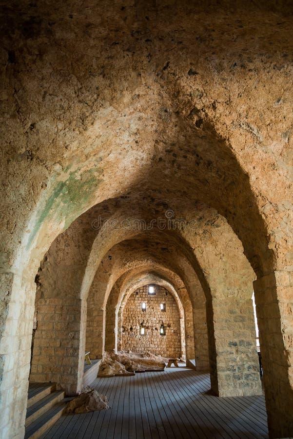 Slott i den Yehiam nationalparken, Israel fotografering för bildbyråer