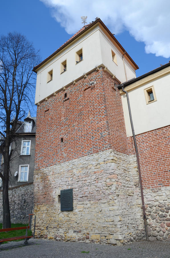 Slott i Gliwice, Polen arkivfoton