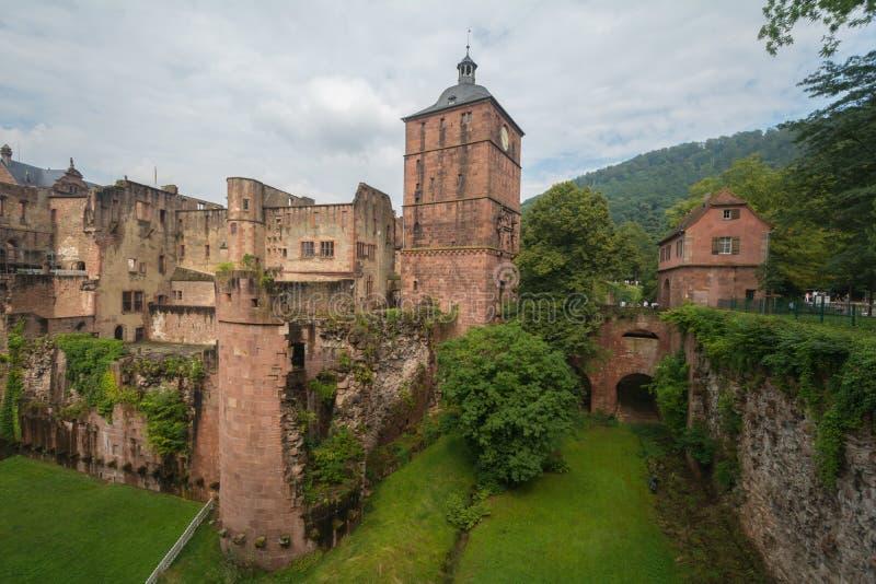 Slott i Heidelberg, Tyskland arkivbilder