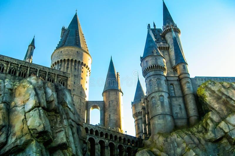 Slott i Hogwarts, universella studior royaltyfri bild