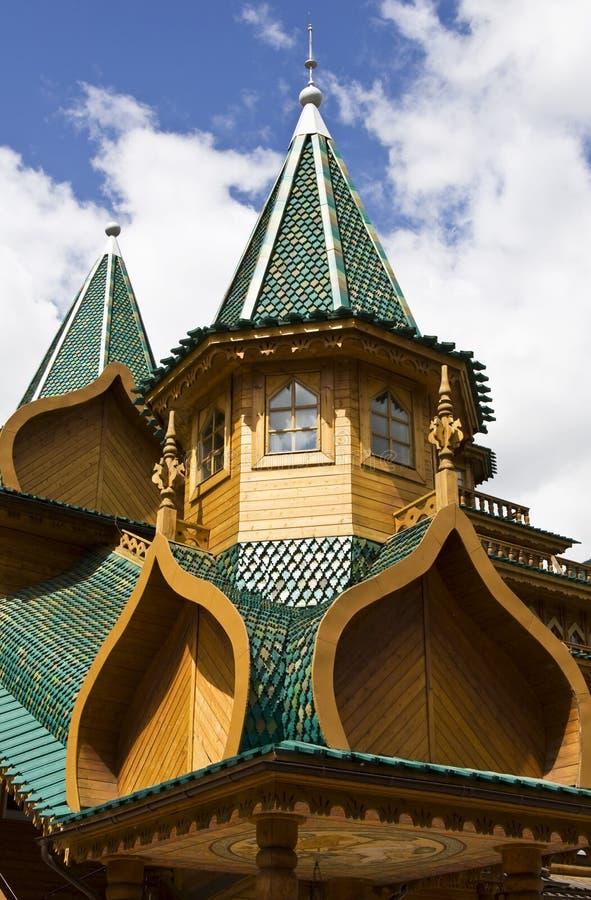 Slott i Kolomenskoye, Moskva royaltyfri fotografi