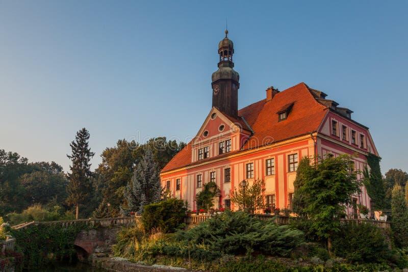Slott i lägre Silesia royaltyfria bilder