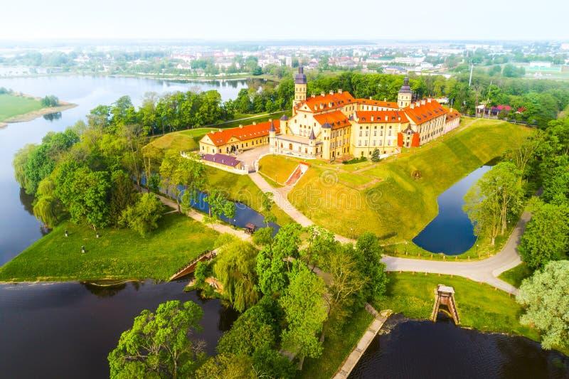Slott i Nesvizh, Minsk region, Vitryssland royaltyfria foton