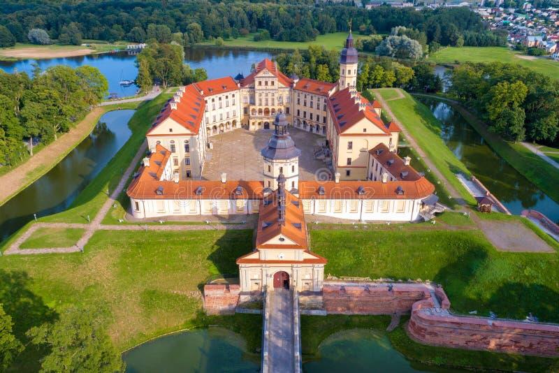 Slott i Nesvizh, Minsk region, Vitryssland royaltyfria bilder