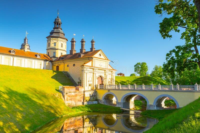 Slott i Nesvizh, Minsk region, Vitryssland royaltyfri bild