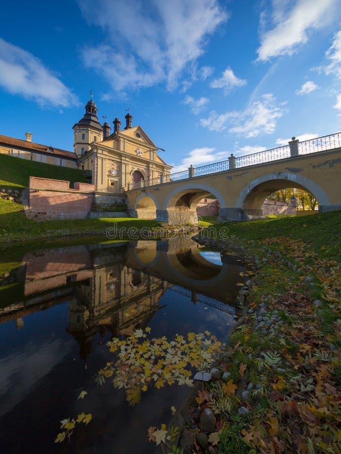 Slott i Nesvizh, Minsk region, Vitryssland arkivbilder