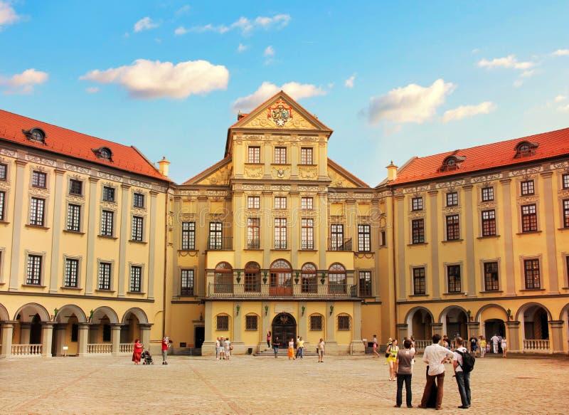 Slott i Nesvizh, Vitryssland royaltyfria bilder