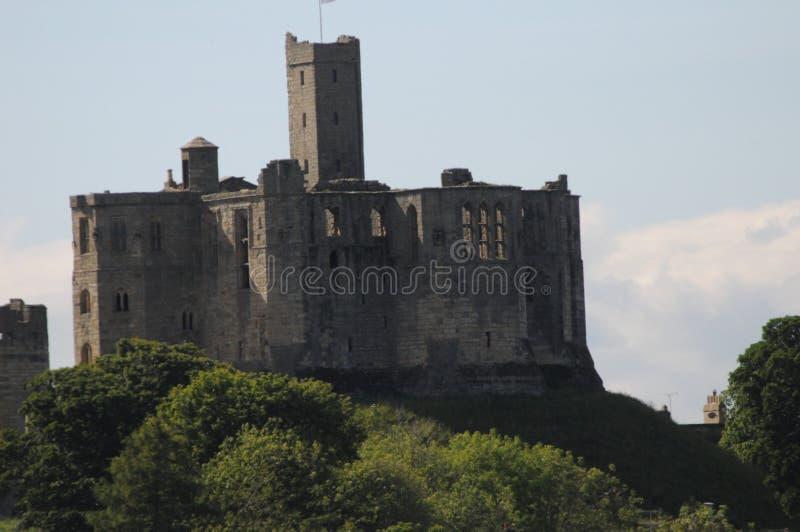 Slott i newcastle royaltyfria foton