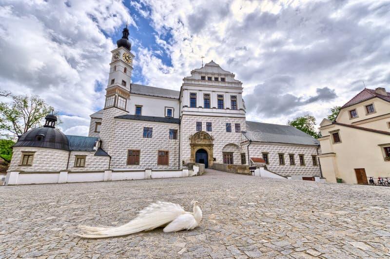 Slott i Pardubice, Tjeckien royaltyfri bild
