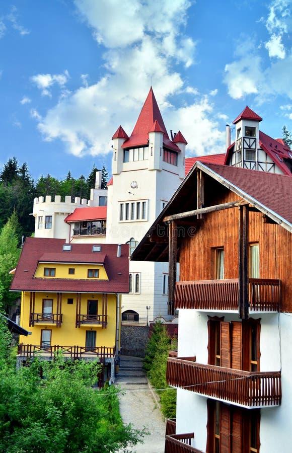 Slott i Poiana Brasov fotografering för bildbyråer