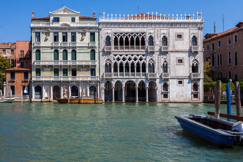 Slott i Venedig på Grand Canal arkivfoto