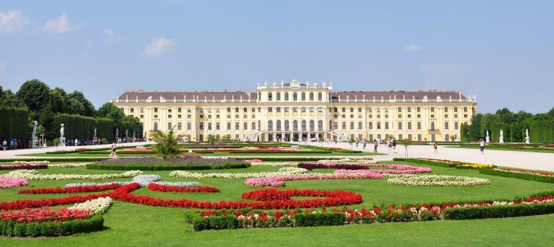 Slott i Wien, Schonbrunn, Österrike, Europa fotografering för bildbyråer