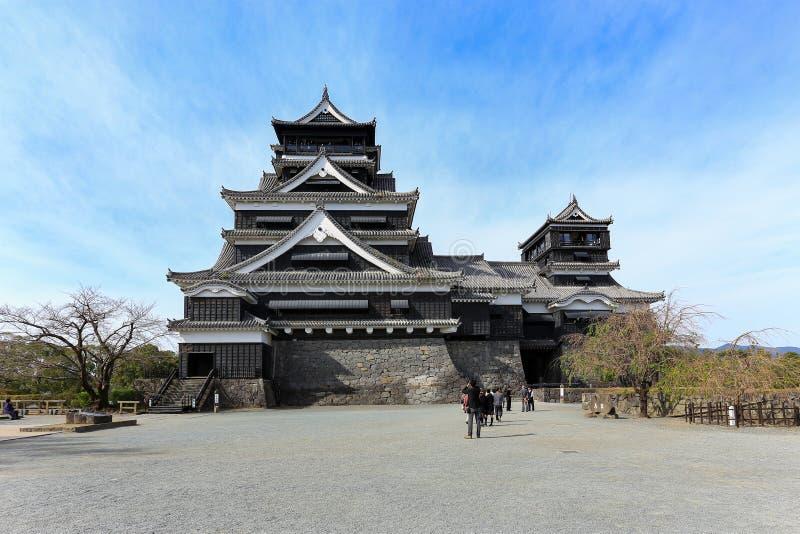 slott japan kumamoto royaltyfri fotografi