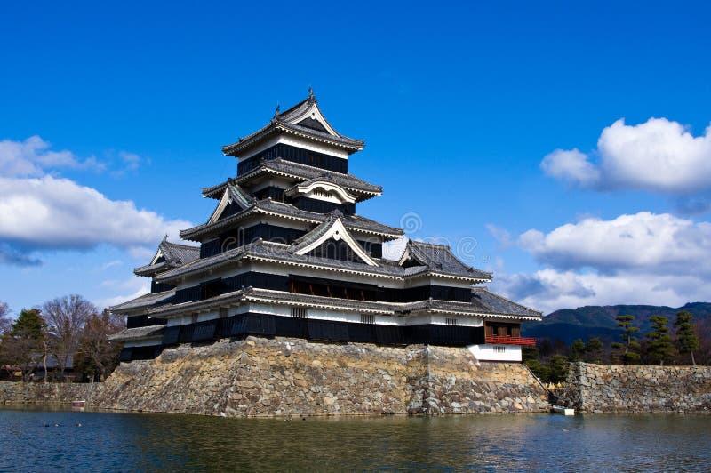 slott japan matsumoto nagano fotografering för bildbyråer
