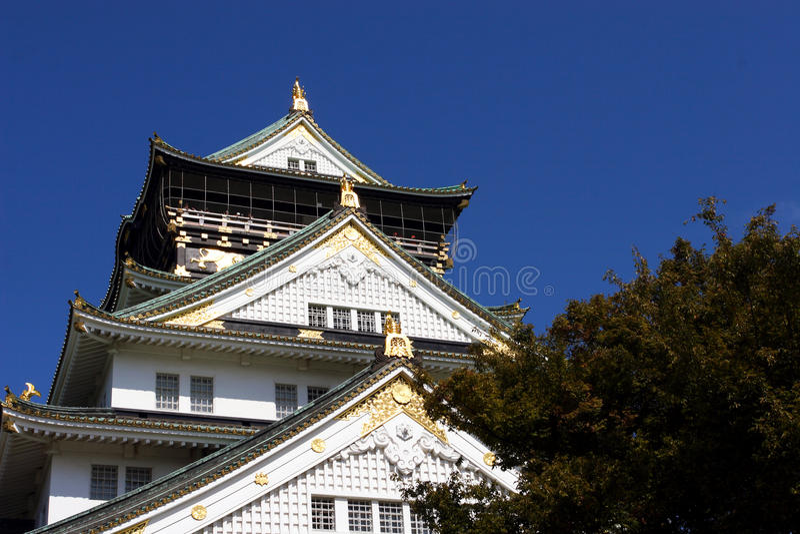 Slott Japan Osaka Royaltyfria Bilder