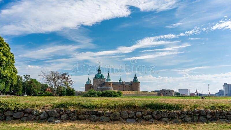 slott kalmar sweden arkivbild