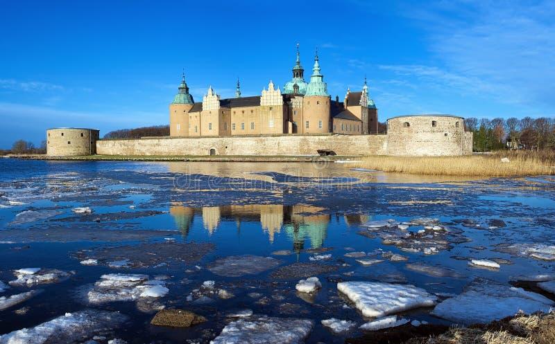 slott kalmar sweden arkivfoton