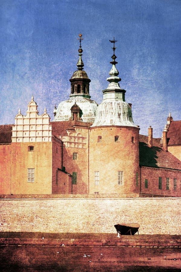 slott kalmar sweden royaltyfri illustrationer