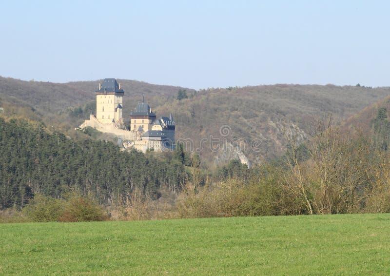 Slott Karlstejn royaltyfria bilder