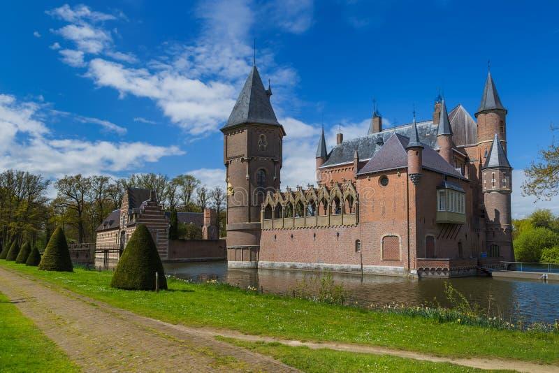 Slott Kasteel Heeswijk i Nederländerna arkivbild