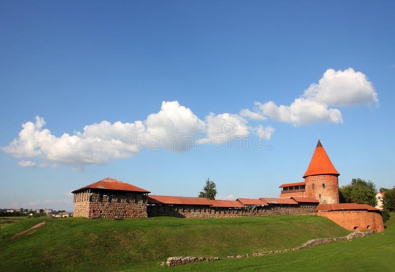 slott kaunas gammala lithuania arkivbild