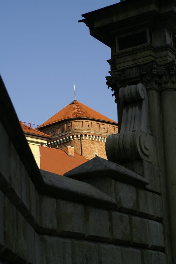 slott krakow royaltyfria bilder