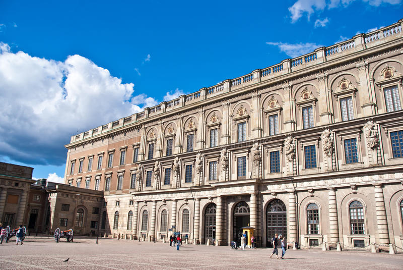 slott kungliga stockholm sweden royaltyfri foto