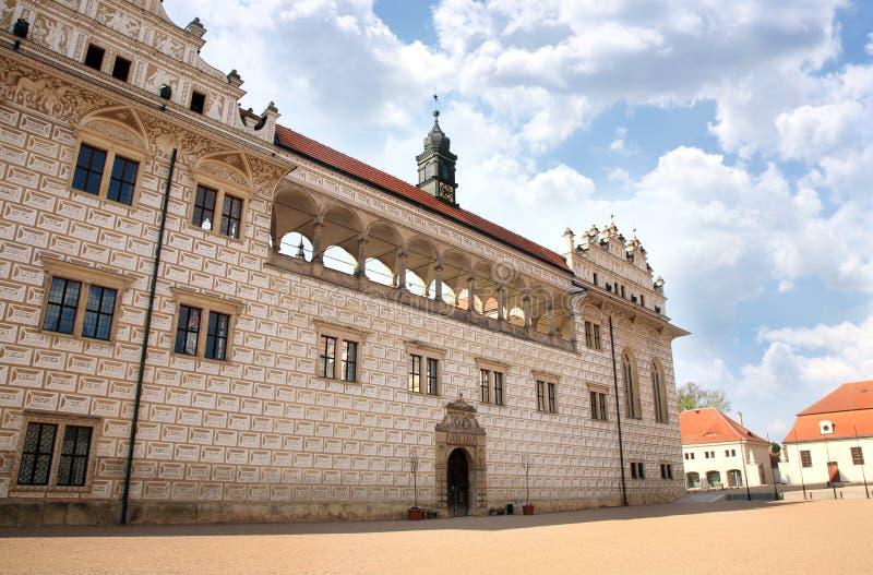 Slott Litomysl, Tjeckien arkivfoto