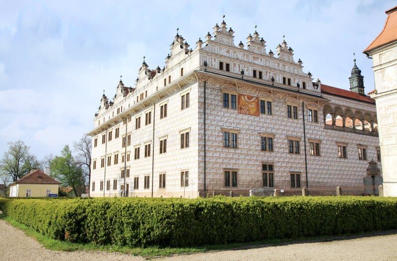 Slott Litomysl, Tjeckien arkivbilder
