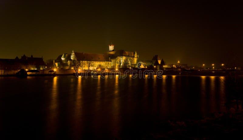 Slott Malbork fotografering för bildbyråer
