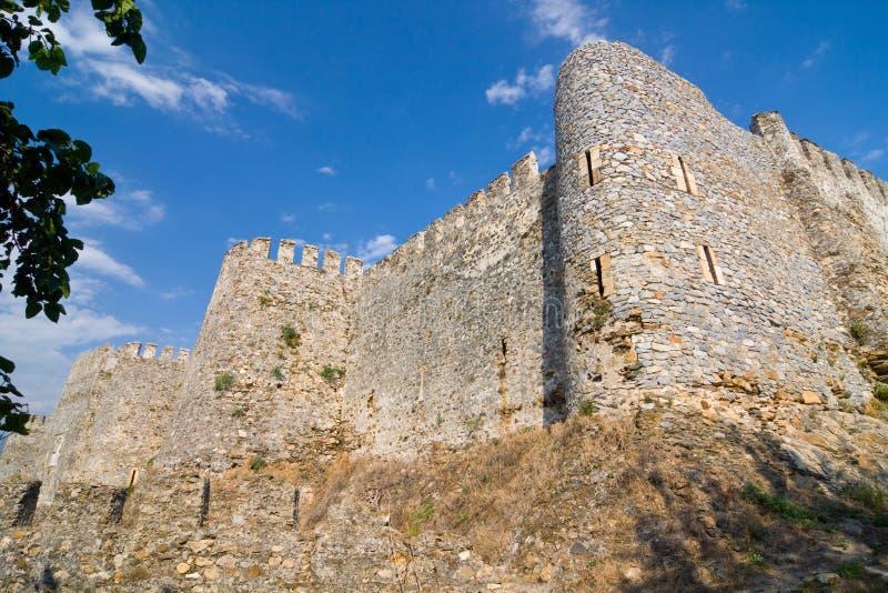 Slott Mamure Kalesi i Anamur, Turkiet royaltyfri bild
