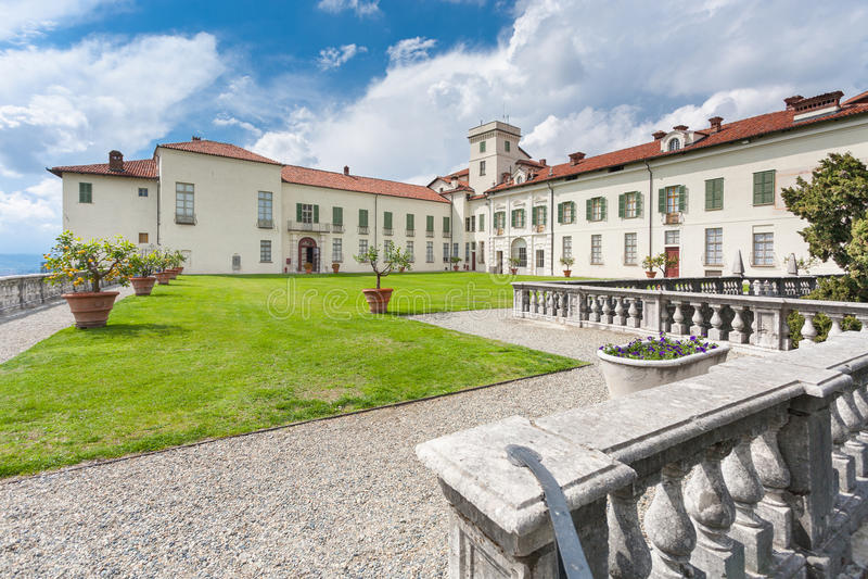 Slott Masino; Piedmont; Italien; Turin, royaltyfria foton