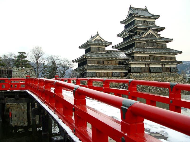 slott matsumoto royaltyfria bilder
