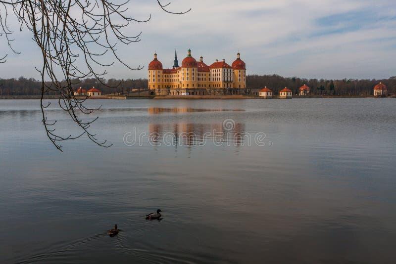 Slott Moritzburg nära Dresden royaltyfria bilder