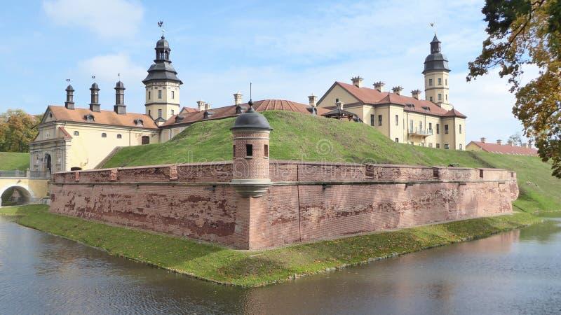 Slott Nesvizh i Vitryssland fotografering för bildbyråer