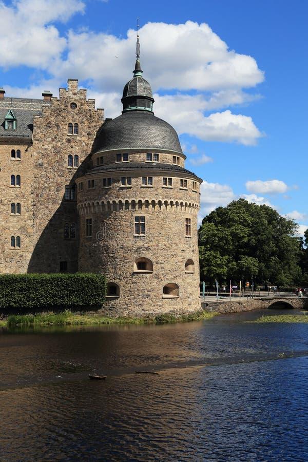 Slott Orebro, Sverige royaltyfri bild