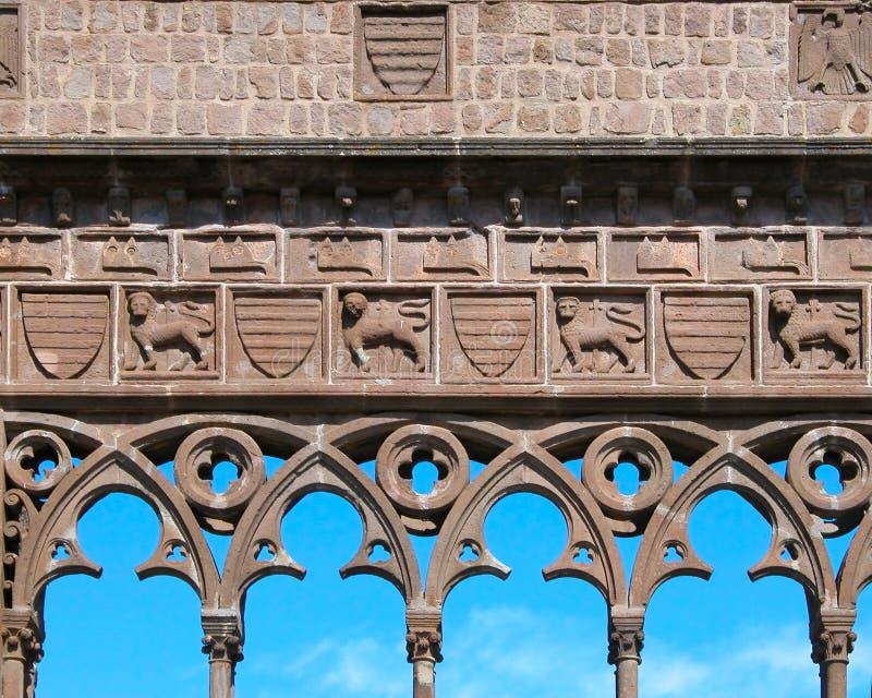 slott påvliga viterbo royaltyfri bild